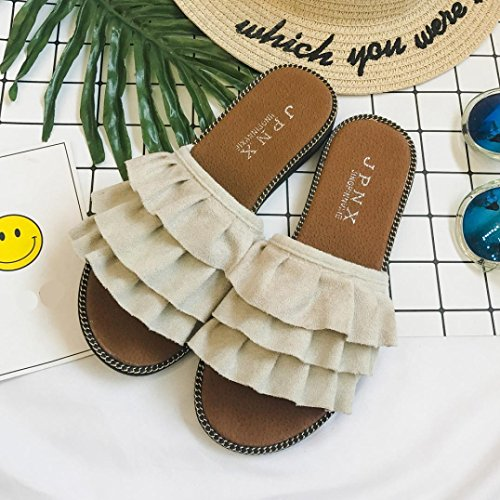 Lolittas Summer Beach Suede Fluffy Slipper Sandals for Women Ladies Size 2-7,Black Wedding Bridal Comfortable Open Toe Wide Fit Cushioned Outdoor Shoes White