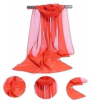Lubier Damen Schal rosa Rose 160 x 50 cm