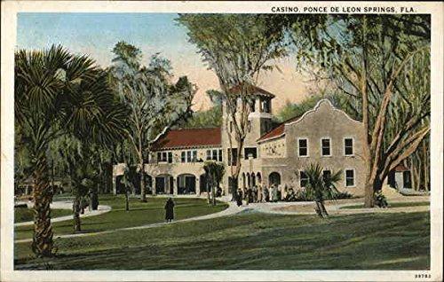Casino, Ponce de Leon Springs Ponce de Leon, Florida Original Vintage Postcard from CardCow Vintage Postcards