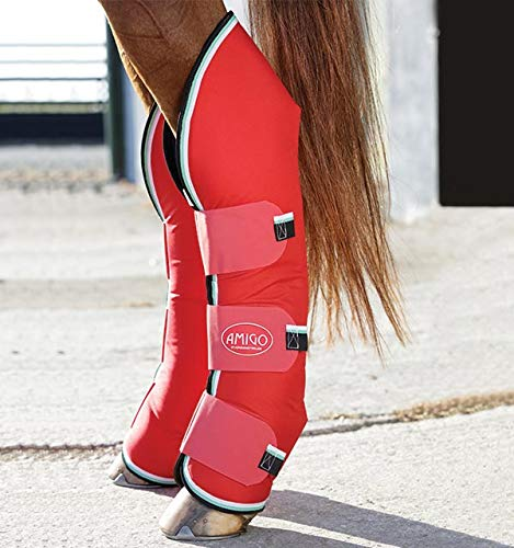 Horseware Ireland Amigo Travel Boots, Red/White/Green, Horse