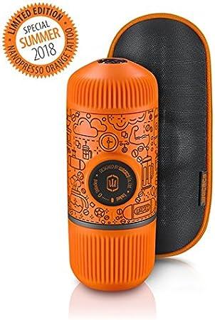 Wacaco Nanopresso Portable Espresso Maker incluido con funda protectora Nanopresso, Naranja Tattoo Patrol Edition, Edición de la Patrulla Amarilla, cafetera de viaje extra pequeña, operada manualmente: Amazon.es: Hogar
