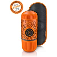 Wacaco Nanopresso Portable Espresso Maker bundled with Protective Case, Orange Tattoo Patrol Edition, 18 Bar Pressure…