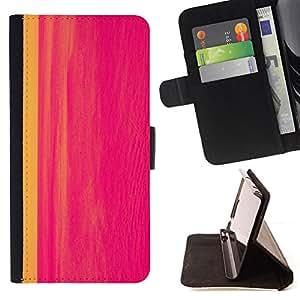 - painting abstract hot pink line watercolor - - Prima caja de la PU billetera de cuero con ranuras para tarjetas, efectivo desmontable correa para l Funny HouseFOR Sony Xperia Z1 L39