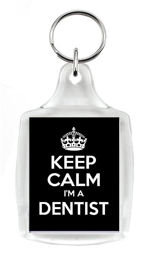 KEEP CALM soy dentista negro llavero, un regalo único para ...