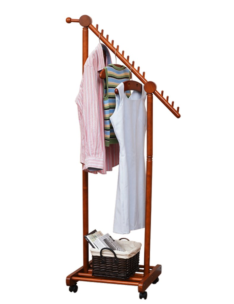 コートハンガー ハンガーラック ハンガー床用コートラック衣服ハンガーソリッドウッドのベッドルームリビングルームモダンシンプルな多機能 (サイズ さいず : S s) B07BPSR77C