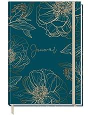 Trendstuff by Häfft Bullet Journal gestippelde A5 met elastiek, goudbloem, 156 pagina's, notitieboek gestippeld, dagboek van Trendstuff by Häfft | duurzaam & klimaatneutraal