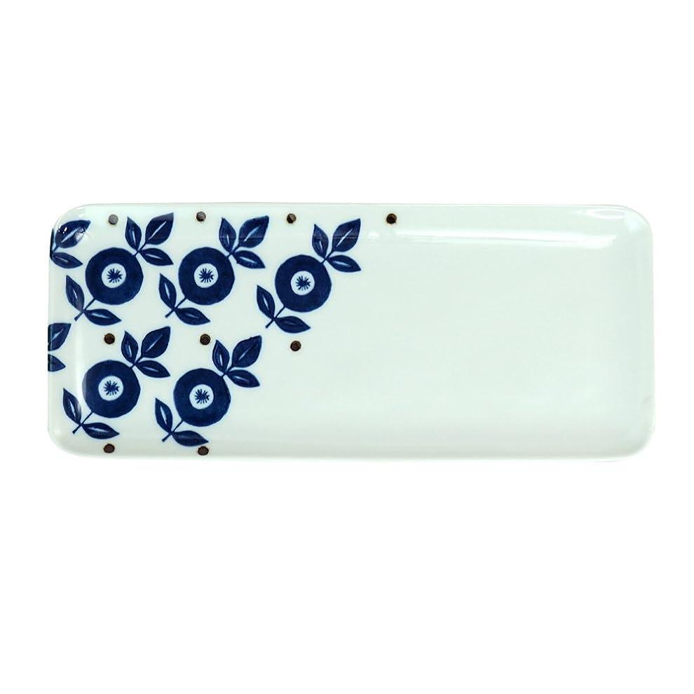 スリムクロスおとなしい西海陶器 藍紋様 焼物皿