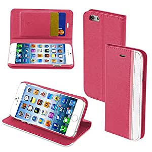MYBAT Premium Book Case for iPhone 6 - Retail Packaging - Hot Pink/Pink/White