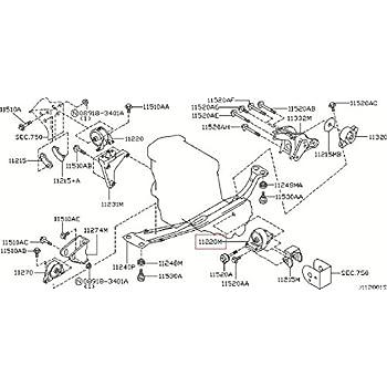 infiniti genuine engine mount mounting front left insulator 11220-7j110 g20