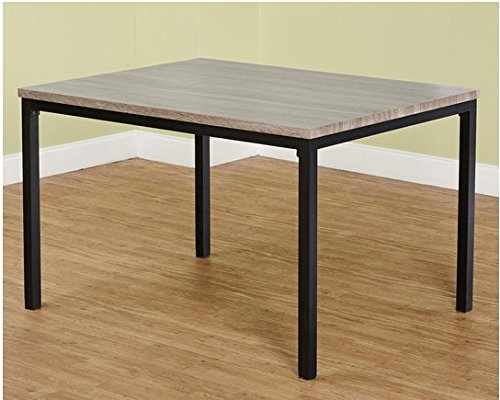 Simple Living Products Modern Contemporary Gray Rectangle Dining Table