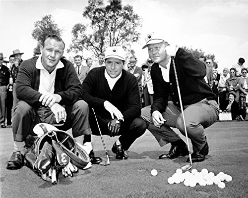 Gary Player, Jack Nicklaus & Arnold Palmer Together At The Masters In 1967. 8x10 ()