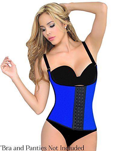 Ursula Women's Perfect Fit Waist Trainer and Body Shaper Vest, Blue, Extra Large-Long