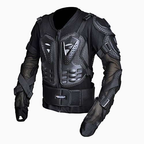 CHCYCLE Motorcycle Full Body Armor Motocross ATV Motorbike Jacket Protector (3XL, Black) by CHCYCLE
