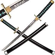 SV Wooden Japanese Anime Samurai Sword, Demon Slayer-Tokitou Muichirou's Samurai Sword, Short Wooden Sword