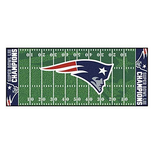 FANMATS 26678 NFL New England Patriots Super Bowl LIII Champions Football Field Runner 30