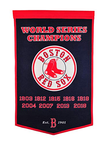 Boston Red Sox Dynasty Banner with 2018 World Series Championship
