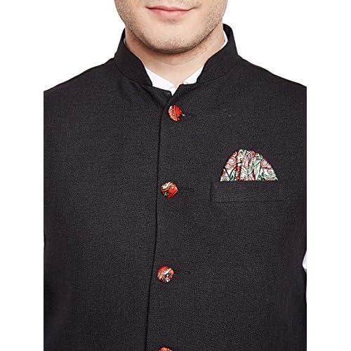 51jWmIZWoqL. SS500  - Wintage Men's Linen Blend Grandad Nehru Jacket Vest Waistcoat