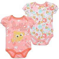 Disney Baby Girls' Nemo Creeper 2-Pack, Coral (3/6M)