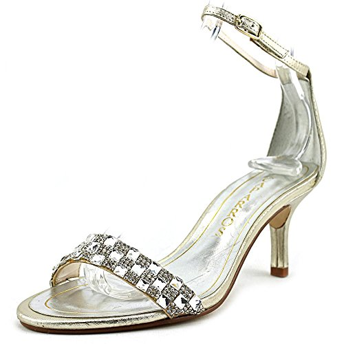 Gold Strap Ankle Occasion Starla Sandals Metallic Special Womens Toe Open Caparros xwqFBCzn