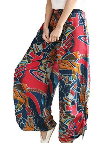 prodotto Pantaloni ed letteratura Primavera Pantaloni Chqin colore casual harem Donna Nuovo slip l'arte culottes Rosso La e semplice estate X7w0qvw
