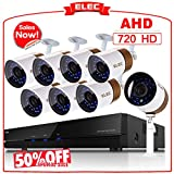Cheap ELEC Surveillance System,1080N 8CH-8CAM HD 2000TVL CCTV In& Outdoor Home Video Security Camera System DVR Kit with 8pcs Weatherproof 65ft Night Vision Bullet Cameras Remote Access[No Hard Drive]