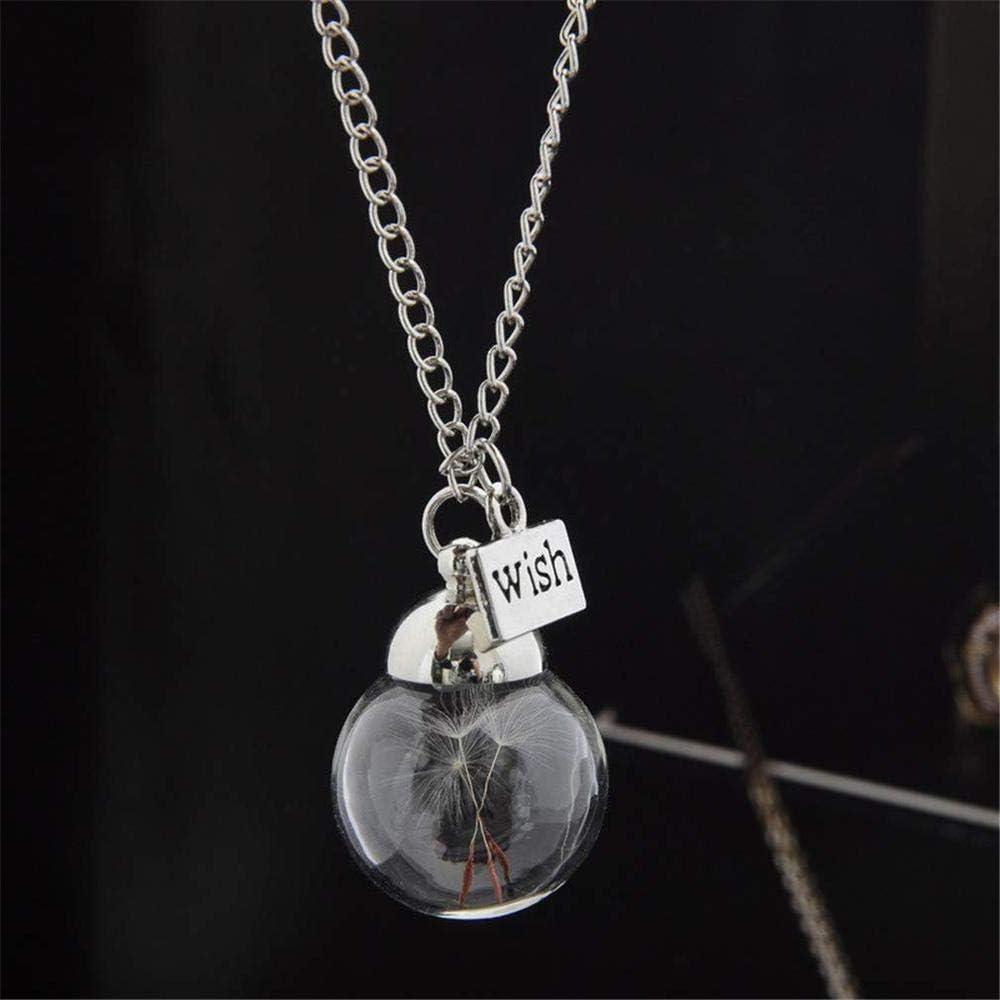 DIVISTAR Collar de Botella de Vidrio Semilla de Diente de león ...