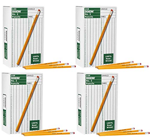 Dixon ITGHGUIK Wood-Cased Graphite Pencils, 2 HB Soft, Yellow, 144 Count 4 Pack by Dixon (Image #5)