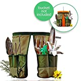 Handy Bucket Caddy | 2pcs Fit 5 Gallon Home Depot Bucket New Design Military Grade 600D Oxford Cloth Gardening Organizer Caddy with 10 Pockets for 13.7 x 9.8 inches Machine Safe Series Green | 142.02