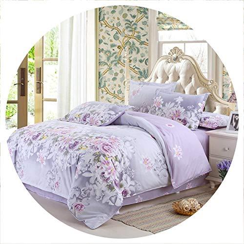 Classic Home Textile Comforter Bedding Sets Family Set Bed Sheet Room Decoration Flowers Printing Bedspread Pillowcase 4pcs/Set, Duvet Cover 220X240