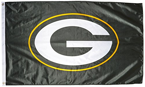 NFL Green Bay Packers Banner Flag, 3' x 5', Green by Rico