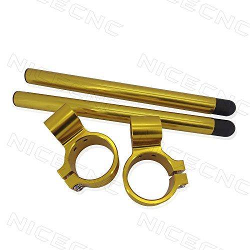 50mm Clip Ons Handlebars - NICECNC Gold 50mm Riser 1