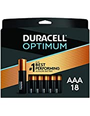Duracell Optimum AAA Batteries | 4 Count Pack | Lasting Power Triple A Battery | Alkaline AAA Battery Ideal for Household and Office Devices |