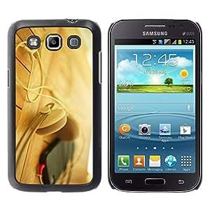 Paccase / SLIM PC / Aliminium Casa Carcasa Funda Case Cover para - Headphones Phone Beige - Samsung Galaxy Win I8550 I8552 Grand Quattro