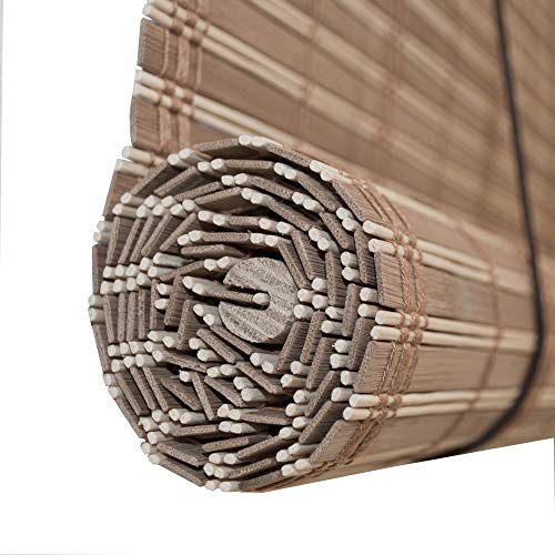 ALEKO Bamboo Wooden Roll Up Blinds Shades Privacy 36 X Inches