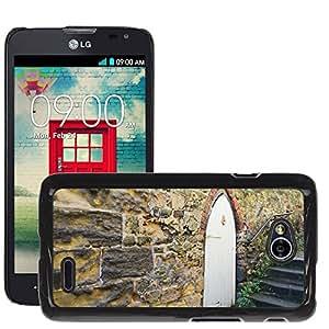 Etui Housse Coque de Protection Cover Rigide pour // M00152450 Pared de piedra Puerta Albañilería // LG Optimus L70 MS323