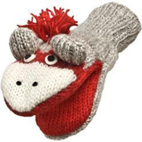 Nirvanna Designs MTCUTE Cute Monkey Puppet Mittens, Grey, (Monkey Wool Mittens)