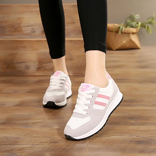 HBDLH Frühjahr Und Herbst Sport Flachen Boden Atmungsaktiv Touristische Schuhe Studenten Freizeit Frenulum Damenschuhe Einzelne Schuhe