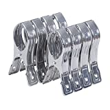 Ecrocy 8 Pack Stainless Steel Beach Towel Clips - Jumbo Size- Keep Your Towel From Blowing Away,clothes Lines