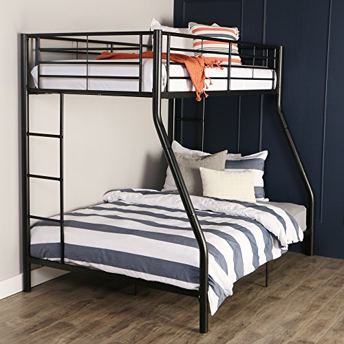 Walker Edison Twin Over Full Metal Bunk Bed Black Buy