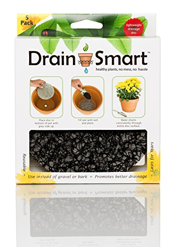 """Drain Smart 6"""" 5-Pack Drainage Discs - Perfect for Indoor/Outdoor Potted Plants 
