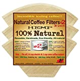 6 cone filter gold - P&F(3 pack)Natural Reusable Cone Coffee Filters #2 Melitta Style, No Harmful Chemical, All Natural
