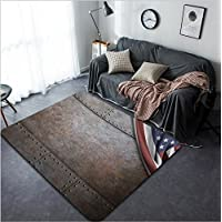 Vanfan Design Home Decorative 313492085 rust steel metal texture with rivets as steam punk background Modern Non-Slip Doormats Carpet for Living Dining Room Bedroom Hallway Office Easy Clean Footcloth