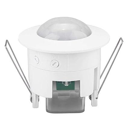 Interruptor de luz con Sensor de Movimiento, Mini Ajustable 360 ...