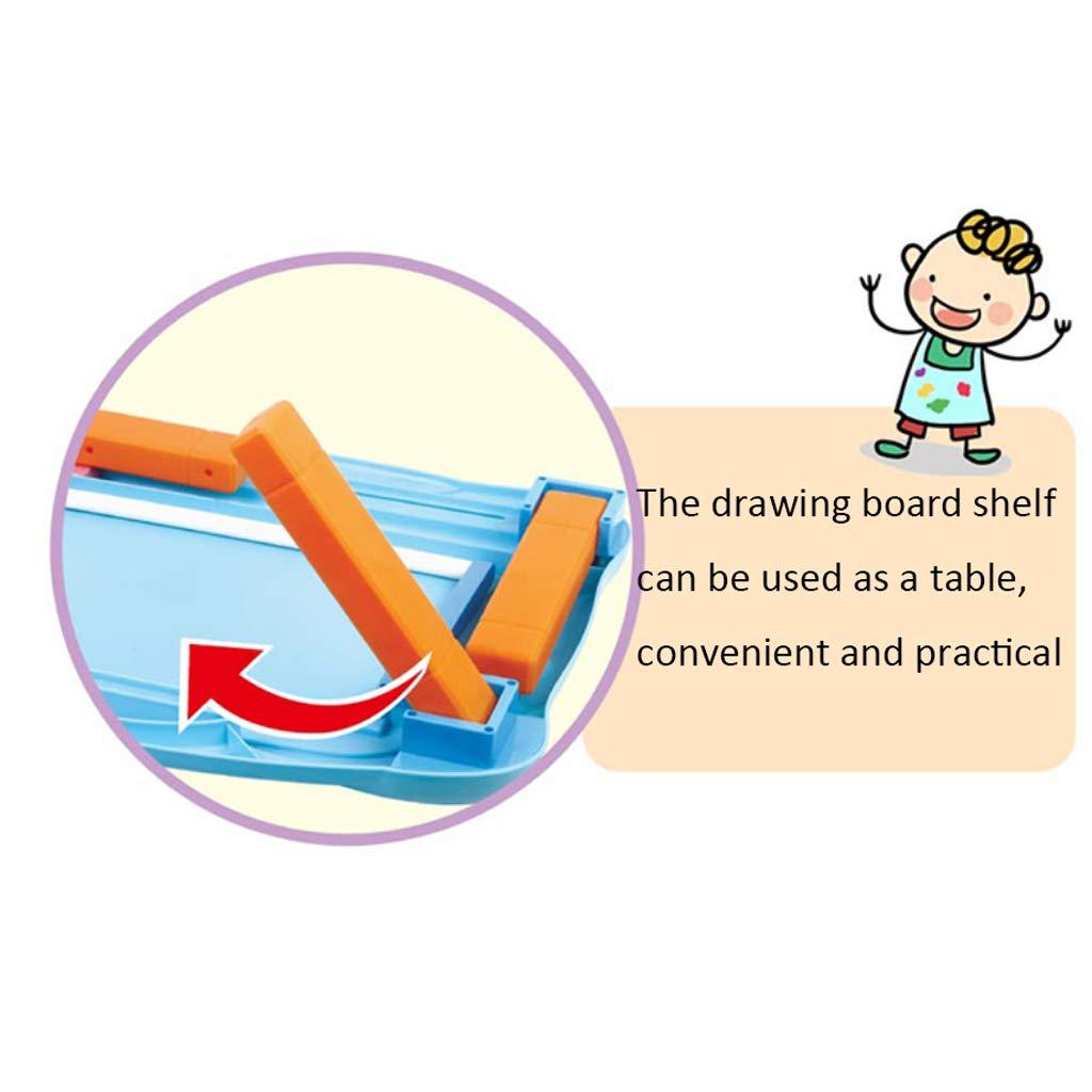 Große Doppelklammer Kinder magnetische Reißbrett Farbe Farbe Farbe Schreibtafel Graffiti Bord Malerei Spielzeug (Farbe : ROT) 7186fe