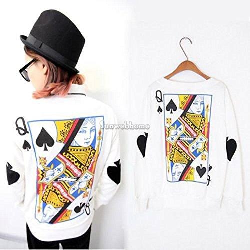 Lady Loose Print Harajuku Sweatshirt Women Long Sleeve Blouse Tops