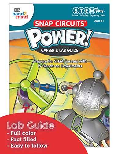 51jWorHXKoL - ETA hand2mind Snap Circuits Power! Kids Science Kits, 19 STEM Experiments & Activities, Light Up A Robot, Learn About Electricity | Gifts for Girls & Boys, Children & Teens | Educational Toy