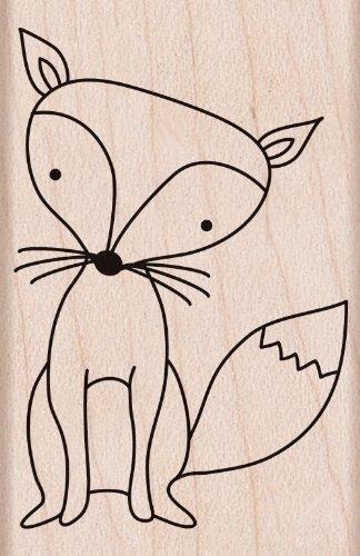 Hero Arts Woodblock Stamp, Fox