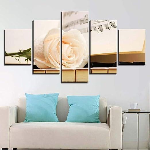 adgkitb canvas Cinco Piezas Simple Pintura de Pared Combinación ...