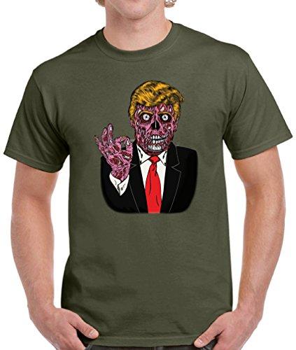 Vizor Men's Halloween Trump T-Shirts Shirts Tops Zombie
