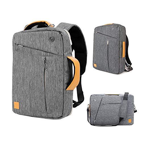 - Mens Womens Convertible Bag 15 15.6 inch Laptop Business Messenger Shoulder Bag Handbag Crossbody Briefcase Hybrid Backpack